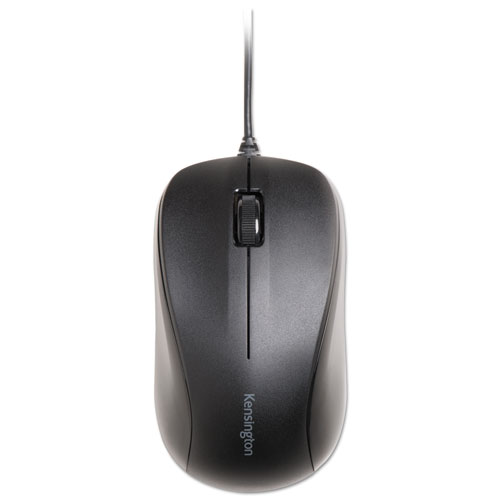 Wired USB Mouse for Life, USB 2.0, Left/Right Hand Use, Black