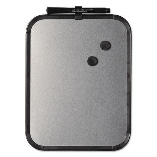 Magnetic Dry Erase Board, 11 x 14, Black Plastic Frame   by Plexsupply