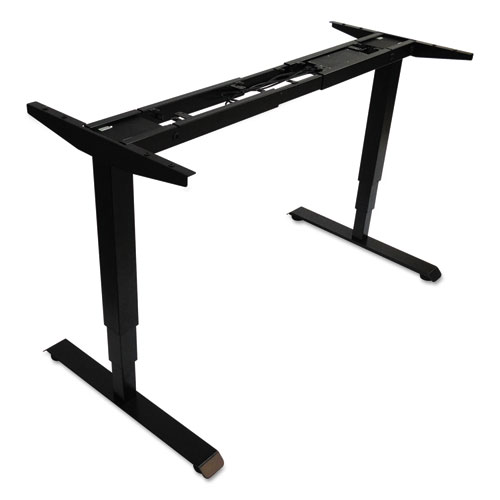 AdaptivErgo 3-Stage Electric Table Base w/Memory Controls, 25 to 50.7, Black