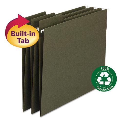 FasTab Hanging Folders, Letter Size, 1/3-Cut Tab, Standard Green, 20/Box