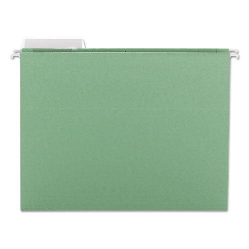 Color Hanging Folders with 1/3 Cut Tabs, Letter Size, 1/3-Cut Tab, Green, 25/Box