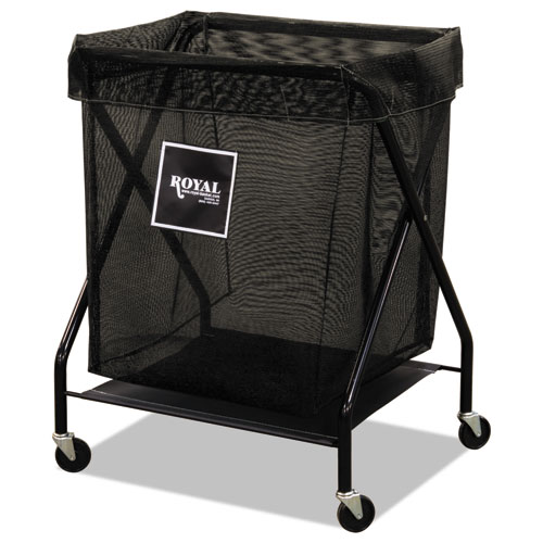 8 Bushel X-Frame Cart with Mesh Bag, 21 x 26 x 36, 150 lbs. Capacity, Black