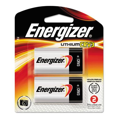Energizer® CRV3 Lithium Photo Battery, 3V, 2/Pack