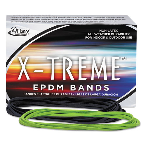 X-Treme Rubber Bands, Size 117B, 0.08 Gauge, Lime Green, 1 lb Box, 200/Box