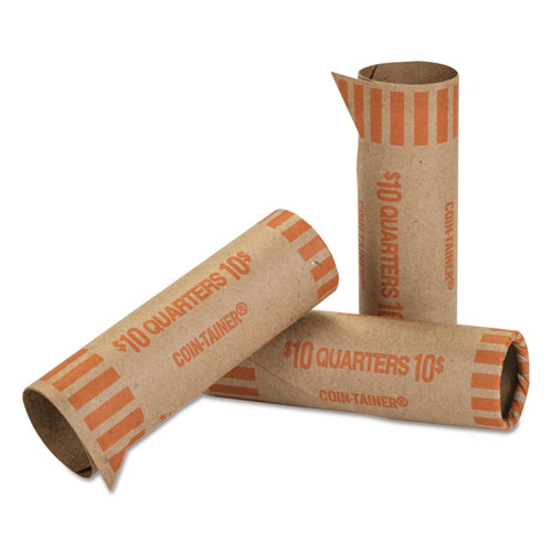 Preformed Tubular Coin Wrappers, Quarters, $10, 1000 Wrappers/Box | by Plexsupply