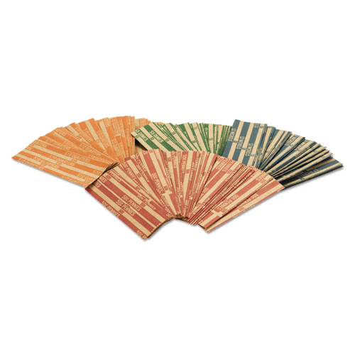 Pap-R Products Flat Coin Wrappers, Pennies, $.50, 1000 Wrappers/Box