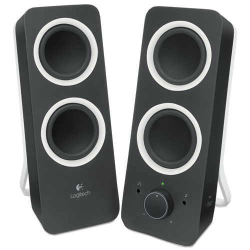 Z200 Multimedia 2.0 Stereo Speakers, Black | by Plexsupply
