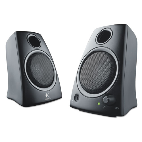 Z130 Compact 2.0 Stereo Speakers, 3.5mm Jack, Black | by Plexsupply