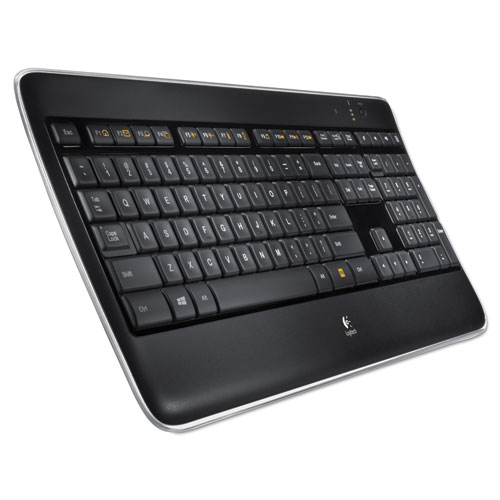 K800 Wireless Illuminated Keyboard, Black | by Plexsupply