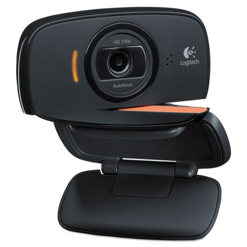 C525 Portable HD Webcam, 1280 pixels x 720 pixels, 1 Mpixel, Black