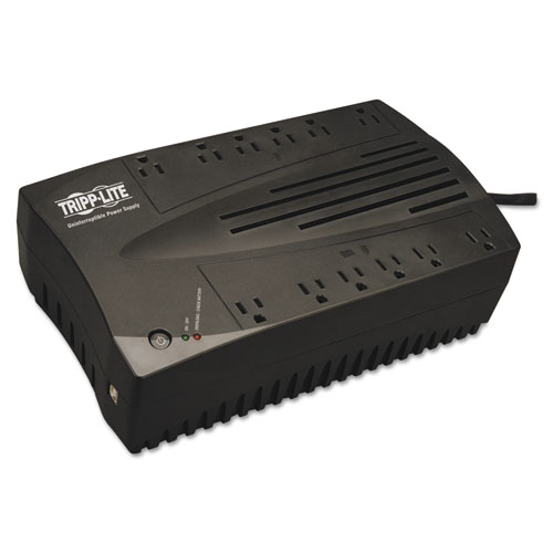 AVR Series Ultra-Compact Line-Interactive UPS, USB, 12 Outlets, 900 VA, 420 J | by Plexsupply