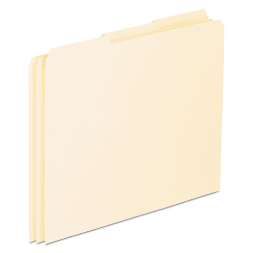 Top Tab File Guides, Blank, 1/3 Tab, 18 Point Manila, Letter, 100/Box | by Plexsupply