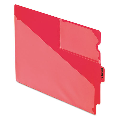 "End Tab Poly Out Guides, Center ""OUT"" Tab, Letter, Red, 50/Box 