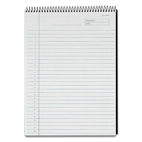 Docket Diamond Top-Wire Planning Pad, Wide/Legal Rule, Black, 8.5 x 11.75, 60 Sheets | by Plexsupply