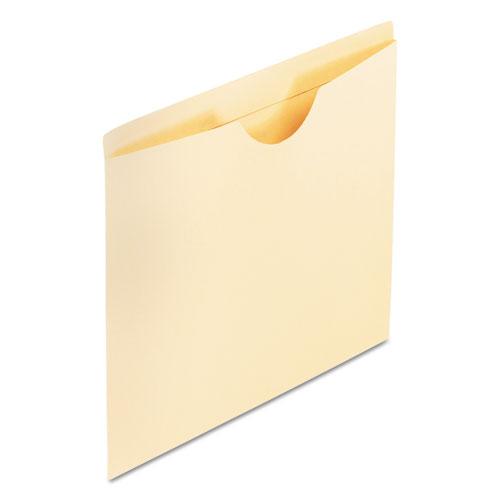 Manila Reinforced File Jackets, 2-Ply Straight Tab, Legal Size, Manila, 100/Box | by Plexsupply