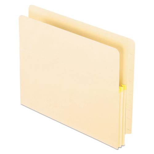 """Convertible End Tab File Pockets, 1.75"""" Expansion, Letter Size, Manila, 25/Box 