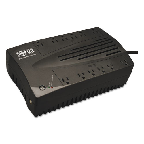 AVR Series Ultra-Compact Line-Interactive UPS, USB, 12 Outlets, 750 VA, 420 J | by Plexsupply