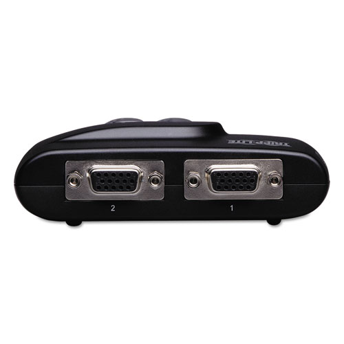 Compact USB KVM Switch with Audio and Cable, 2 Ports