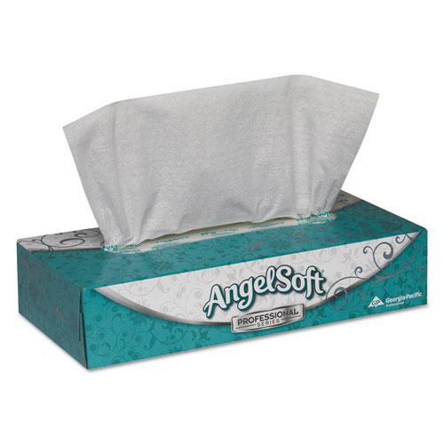 Premium Facial Tissue, 2-Ply, White, Flat Box, 100 Sheets/Box, 100/Box