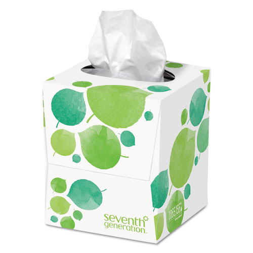 100 Recycled Facial Tissue, 2-Ply, White, 85 Sheets/Box