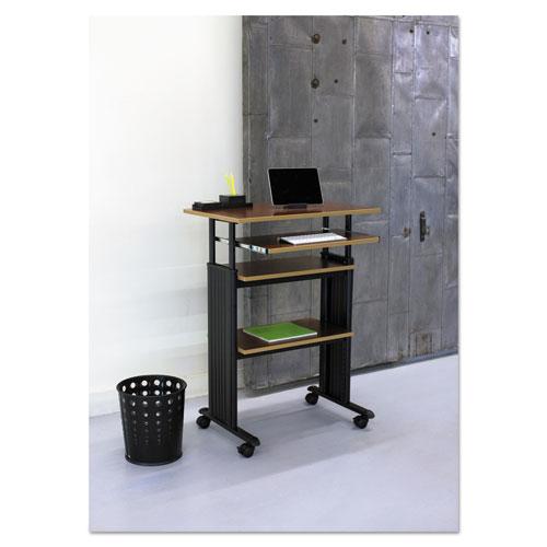 Safco® Bubble Wastebasket, Round, Steel, 6 gal, Black