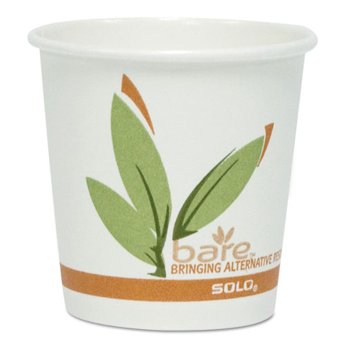Bare by Solo Eco Forward Recycled Content PCF Paper Hot Cups, 16 oz, 50/Pack 316RCPK