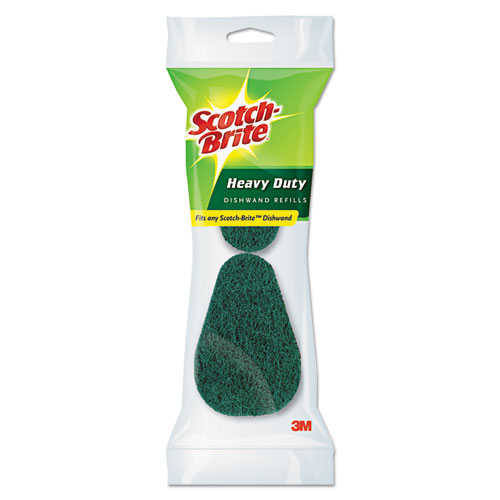 Scotch-Brite® Refill Sponge Heads for Heavy-Duty Dishwand, 2/Pack