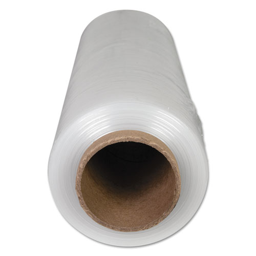 "Universal® High-Performance Handwrap Film, 18"" x 1500ft, 12mic (47-Gauge), Clear, 4/Carton"