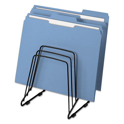 """Wire Step File II, 5 Sections, Letter to Legal Size Files, 7.25"""" x 6"""" x 8.25"""", Black 