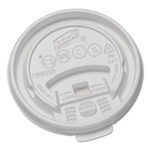 Plastic Lids for Hot Drink Cups, 8oz, White, 1000/Carton TB9538X