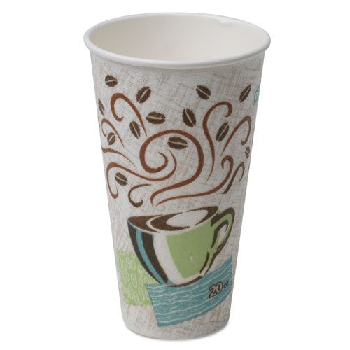 Hot Cups, Paper, 20oz, Coffee Dreams Design, 25/Pack 5360CD