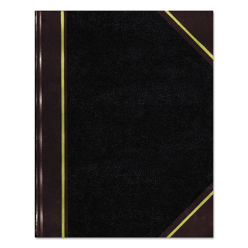 Texthide Record Book, Black/Burgundy, 300 Green Pages, 10 3/8 x 8 3/8 | by Plexsupply