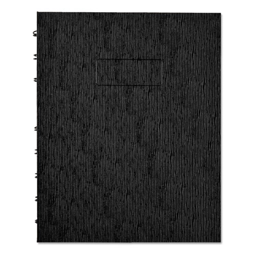EcoLogix NotePro Notebook, Medium/College Rule, Black Cover, 9.25 x 7.25, 75 Sheets | by Plexsupply