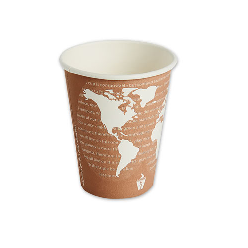 World Art Renewable/Compostable Hot Cups, 8 oz, Plum, 50/Pack | by Plexsupply