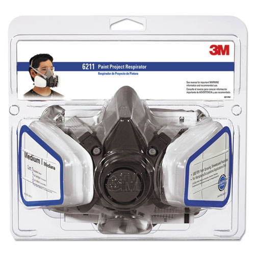 Half Facepiece Paint Spray/Pesticide Respirator, Medium 6211PA1A
