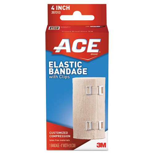Elastic Bandage with E-Z Clips, 4 x 64