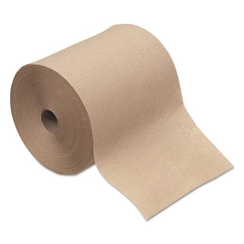 "Boardwalk® Hardwound Paper Towels, 1-Ply, Natural, 8"" x 600ft, 12 Rolls/Carton"
