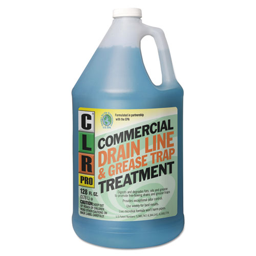 CLR® PRO Commercial Drain Line & Grease Trap Treatment, 1 gal Bottle