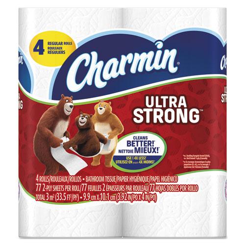 Charmin® Ultra Strong Bathroom Tissue, 2-Ply, 4 x 3.92, 71 Sheets/Roll, 4 RL/PK, 24 PK/CT