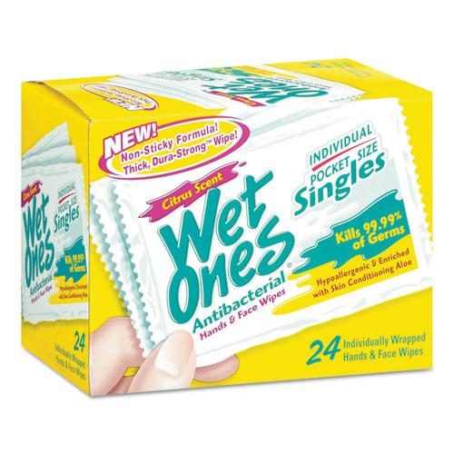 Antibacterial Moist Towelettes, Citrus, 3 3/5 x 7 1/2, White, 24/BX, 10 BX/CT 04730R0