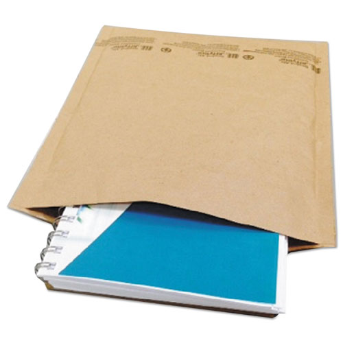 Natural Self-Seal Cushioned Mailer, 0, Barrier Bubble Lining, Self-Adhesive Closure, 6 x 10, Natural Kraft, 200/Carton