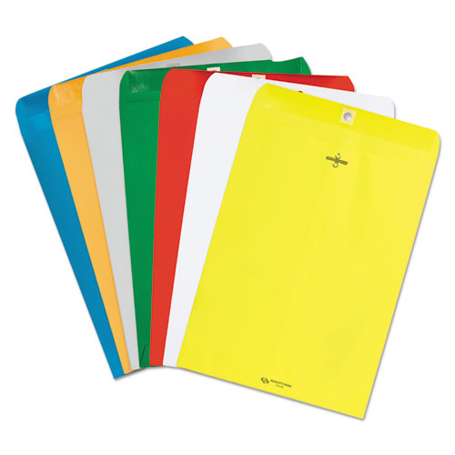 Clasp Envelope, #90, Cheese Blade Flap, Clasp/Gummed Closure, 9 x 12, Yellow, 10/Pack | by Plexsupply