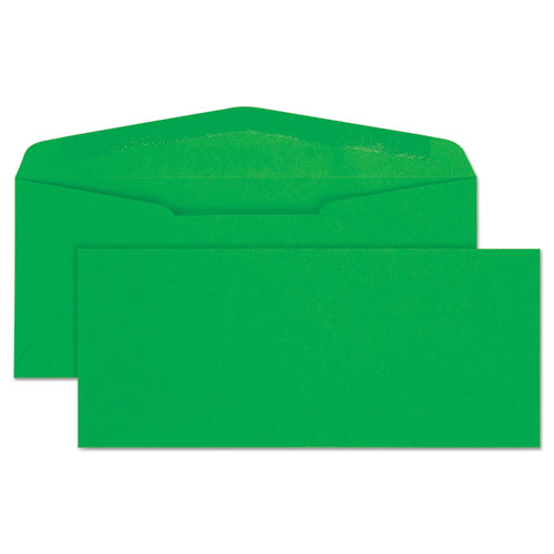 Colored Envelope, 10, Bankers Flap, Gummed Closure, 4.13 x 9.5, Green, 25/Pack