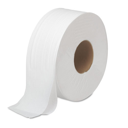 JRT Bath Tissue, Jumbo, Septic Safe, 2-Ply, White, 3.5 x 1000 ft, 12 Rolls/Carton