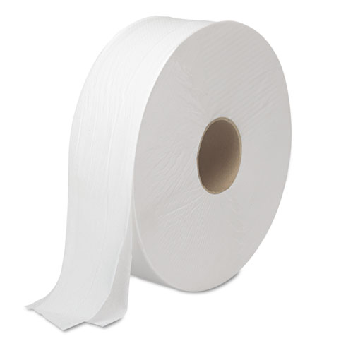 JRT Bath Tissue, Jumbo, Septic Safe, 2-Ply, White, 3.5 x 2000 ft, 6 Rolls/Carton