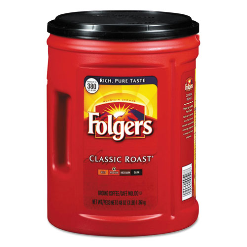 Folgers® Coffee, Classic Roast, 48 oz Canister, 210/Pallet