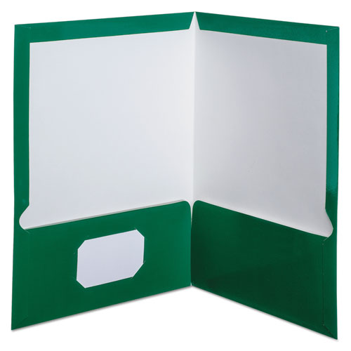 Oxf51717 Oxford High Gloss Laminated Paperboard Folder Zuma