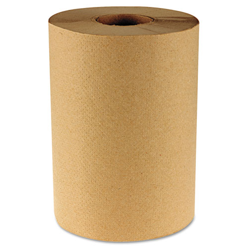 "Hardwound Paper Towels, 8"" x 350ft, 1-Ply Natural, 12 Rolls/Carton 