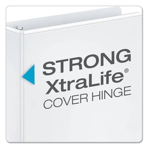 """Performer ClearVue Slant-D Ring Binder, 3 Rings, 1"""" Capacity, 11 x 8.5, White"""
