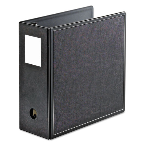SuperLife Easy Open Locking Slant-D Ring Binder, 3 Rings, 5 Capacity, 11 x 8.5, Black